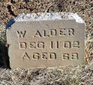 ALDER, W. - Yavapai County, Arizona | W. ALDER - Arizona Gravestone Photos