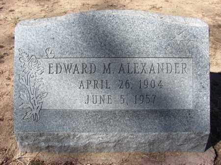ALEXANDER, EDWARD M. - Yavapai County, Arizona   EDWARD M. ALEXANDER - Arizona Gravestone Photos