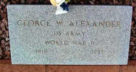 ALEXANDER, GEORGE W. - Yavapai County, Arizona | GEORGE W. ALEXANDER - Arizona Gravestone Photos