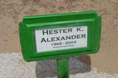ALEXANDER, HESTER K. - Yavapai County, Arizona | HESTER K. ALEXANDER - Arizona Gravestone Photos