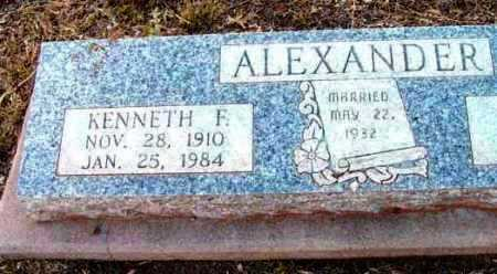 ALEXANDER, KENNETH F. - Yavapai County, Arizona | KENNETH F. ALEXANDER - Arizona Gravestone Photos