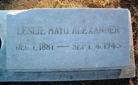 ALEXANDER, LESLIE MAYO - Yavapai County, Arizona | LESLIE MAYO ALEXANDER - Arizona Gravestone Photos