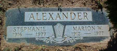 ALEXANDER, MARION W. - Yavapai County, Arizona | MARION W. ALEXANDER - Arizona Gravestone Photos