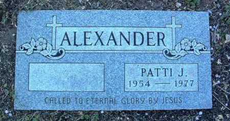 ALEXANDER, PATTI JEAN - Yavapai County, Arizona | PATTI JEAN ALEXANDER - Arizona Gravestone Photos