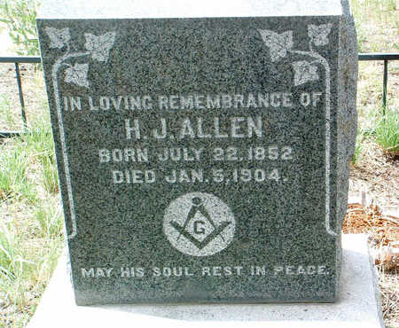 ALLEN, HENRY  JAMES - Yavapai County, Arizona | HENRY  JAMES ALLEN - Arizona Gravestone Photos