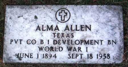 ALLEN, ALMA - Yavapai County, Arizona | ALMA ALLEN - Arizona Gravestone Photos
