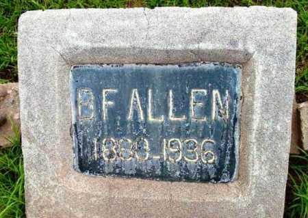 ALLEN, BENJAMIN FRANKLIN - Yavapai County, Arizona   BENJAMIN FRANKLIN ALLEN - Arizona Gravestone Photos