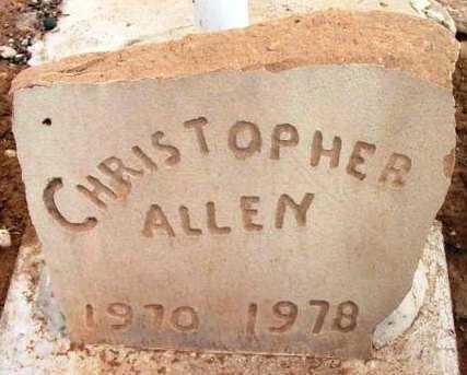 ALLEN, CHRISTOPHER - Yavapai County, Arizona | CHRISTOPHER ALLEN - Arizona Gravestone Photos