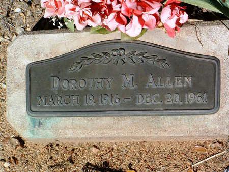ALLEN, DOROTHY M. - Yavapai County, Arizona | DOROTHY M. ALLEN - Arizona Gravestone Photos
