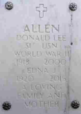 ALLEN, DONALD LEE - Yavapai County, Arizona | DONALD LEE ALLEN - Arizona Gravestone Photos