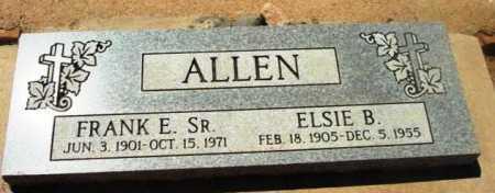 ALLEN, FRANK E.  SR. - Yavapai County, Arizona | FRANK E.  SR. ALLEN - Arizona Gravestone Photos