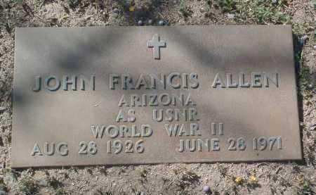 ALLEN, JOHN FRANCIS - Yavapai County, Arizona   JOHN FRANCIS ALLEN - Arizona Gravestone Photos