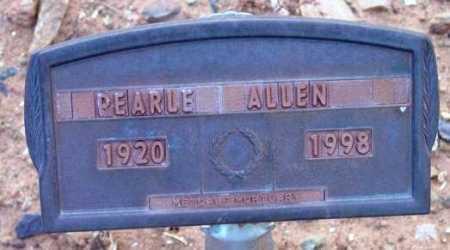 ALLEN, PEARLE - Yavapai County, Arizona   PEARLE ALLEN - Arizona Gravestone Photos