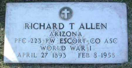 ALLEN, RICHARD THOMAS - Yavapai County, Arizona | RICHARD THOMAS ALLEN - Arizona Gravestone Photos