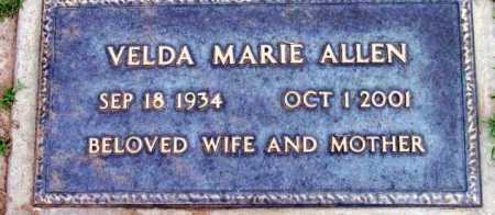 ALLEN, VELDA MARIE - Yavapai County, Arizona | VELDA MARIE ALLEN - Arizona Gravestone Photos