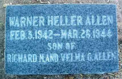 ALLEN, WARNER HELLER - Yavapai County, Arizona | WARNER HELLER ALLEN - Arizona Gravestone Photos