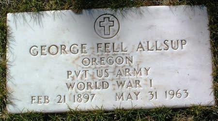 ALLSUP, GEORGE FELL - Yavapai County, Arizona | GEORGE FELL ALLSUP - Arizona Gravestone Photos