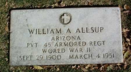 ALLSUP, WILLIAM A. - Yavapai County, Arizona | WILLIAM A. ALLSUP - Arizona Gravestone Photos