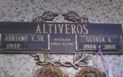 ALTIVEROS, GLORIA A. - Yavapai County, Arizona | GLORIA A. ALTIVEROS - Arizona Gravestone Photos