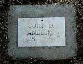 ANDERS, JOHN DAYTON - Yavapai County, Arizona   JOHN DAYTON ANDERS - Arizona Gravestone Photos