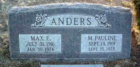 ANDERS, MARY PAULINE - Yavapai County, Arizona | MARY PAULINE ANDERS - Arizona Gravestone Photos