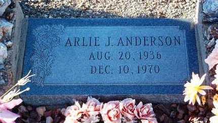 ANDERSON, ARLIE J. - Yavapai County, Arizona | ARLIE J. ANDERSON - Arizona Gravestone Photos