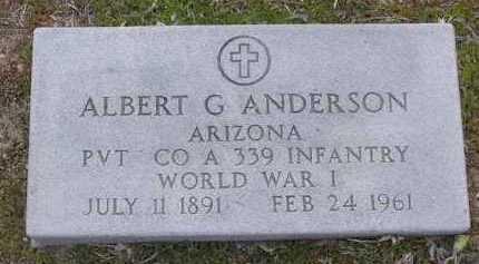 ANDERSON, ALBERT G. - Yavapai County, Arizona | ALBERT G. ANDERSON - Arizona Gravestone Photos
