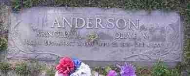 ANDERSON, OLIVE M. - Yavapai County, Arizona   OLIVE M. ANDERSON - Arizona Gravestone Photos