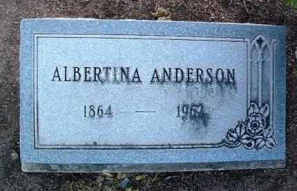 ANDERSON, ALBERTINA - Yavapai County, Arizona   ALBERTINA ANDERSON - Arizona Gravestone Photos