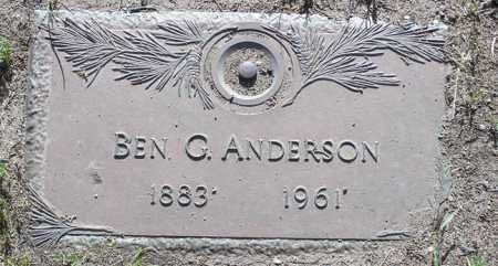 ANDERSON, BEN G. - Yavapai County, Arizona | BEN G. ANDERSON - Arizona Gravestone Photos