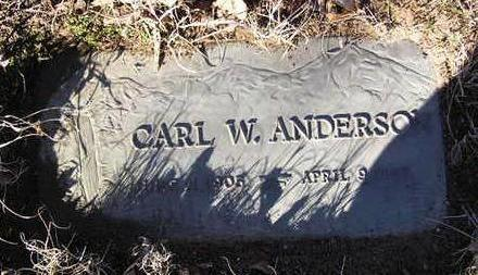 ANDERSON, CARL W. - Yavapai County, Arizona | CARL W. ANDERSON - Arizona Gravestone Photos