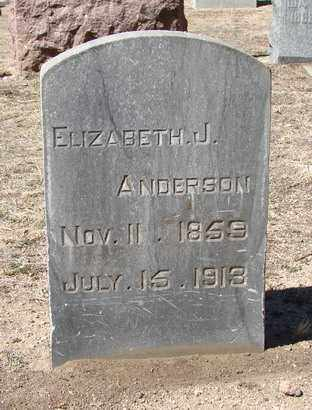ANDERSON, ELIZABETH JANE - Yavapai County, Arizona | ELIZABETH JANE ANDERSON - Arizona Gravestone Photos