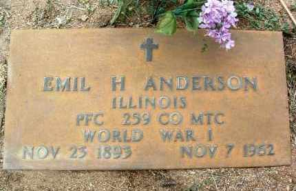 ANDERSON, EMIL HERMAN - Yavapai County, Arizona | EMIL HERMAN ANDERSON - Arizona Gravestone Photos