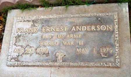 ANDERSON, FRANK ERNEST - Yavapai County, Arizona | FRANK ERNEST ANDERSON - Arizona Gravestone Photos