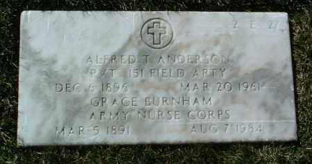 BURNHAM ANDERSON, GRACE - Yavapai County, Arizona | GRACE BURNHAM ANDERSON - Arizona Gravestone Photos