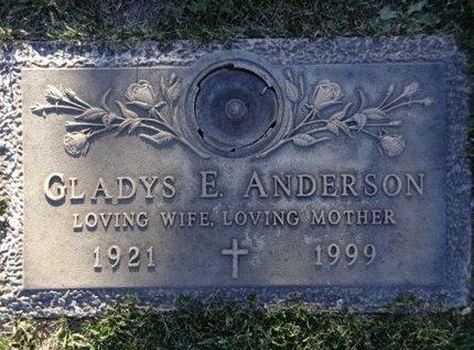 ANDERSON, GLADYS E. - Yavapai County, Arizona   GLADYS E. ANDERSON - Arizona Gravestone Photos