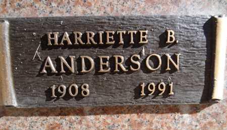 ANDERSON, HARRIETTE B. - Yavapai County, Arizona | HARRIETTE B. ANDERSON - Arizona Gravestone Photos