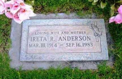 RAY ANDERSON, IRETA R. - Yavapai County, Arizona | IRETA R. RAY ANDERSON - Arizona Gravestone Photos