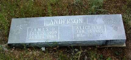 ANDERSON, JAMES D. - Yavapai County, Arizona | JAMES D. ANDERSON - Arizona Gravestone Photos