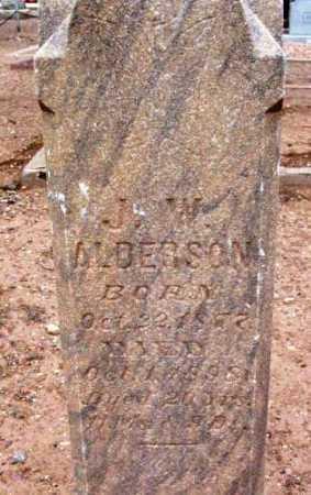 ANDERSON, J. W. - Yavapai County, Arizona   J. W. ANDERSON - Arizona Gravestone Photos