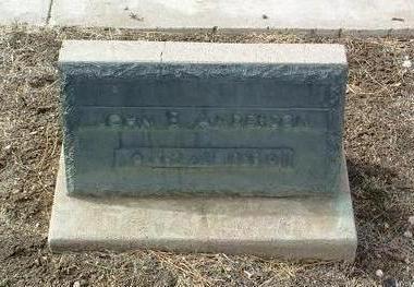 ANDERSON, JOHN E. - Yavapai County, Arizona   JOHN E. ANDERSON - Arizona Gravestone Photos