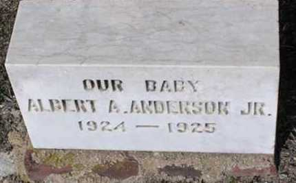 ANDERSON, ALBERT A., JR. - Yavapai County, Arizona | ALBERT A., JR. ANDERSON - Arizona Gravestone Photos