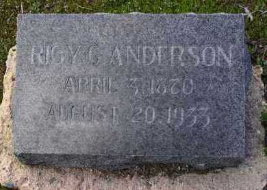 ANDERSON, RICY G. - Yavapai County, Arizona | RICY G. ANDERSON - Arizona Gravestone Photos