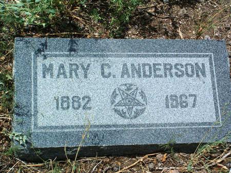 ANDERSON, MARY CHRISTINE - Yavapai County, Arizona | MARY CHRISTINE ANDERSON - Arizona Gravestone Photos