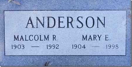 ANDERSON, MALCOLM R. - Yavapai County, Arizona   MALCOLM R. ANDERSON - Arizona Gravestone Photos