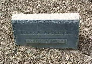 ANDERSON, MARY A. - Yavapai County, Arizona | MARY A. ANDERSON - Arizona Gravestone Photos