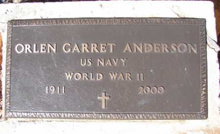 ANDERSON, ORLEN GARRET - Yavapai County, Arizona | ORLEN GARRET ANDERSON - Arizona Gravestone Photos