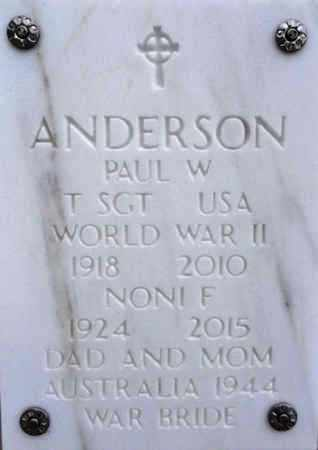 ANDERSON, PAUL W. - Yavapai County, Arizona | PAUL W. ANDERSON - Arizona Gravestone Photos