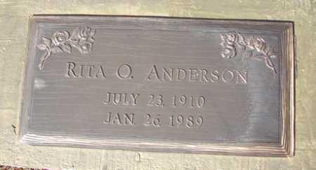 ANDERSON, RITA O. - Yavapai County, Arizona | RITA O. ANDERSON - Arizona Gravestone Photos