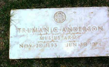 ANDERSON, TRUMAN C. - Yavapai County, Arizona | TRUMAN C. ANDERSON - Arizona Gravestone Photos